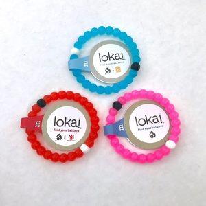 Set of 3: Pink + Blue + Red Lokai Bracelets
